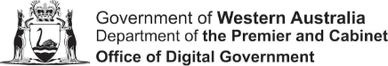 wa gov office of digital government perth